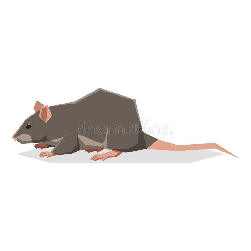 Vlakke geometrische Rat royalty-vrije illustratie