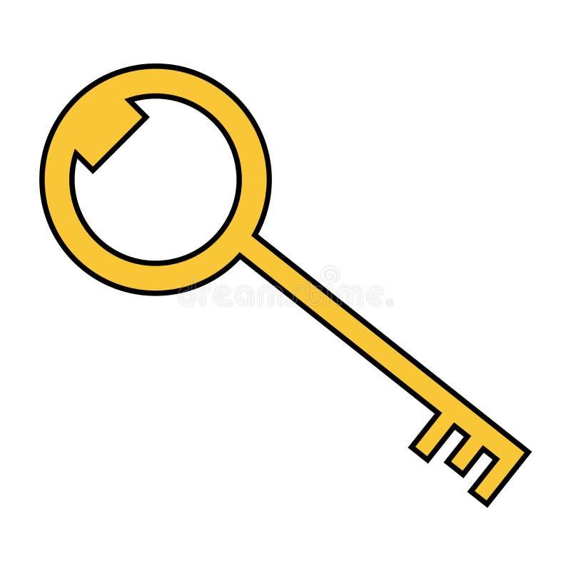 Vlakke gouden zeer belangrijke vector stock illustratie