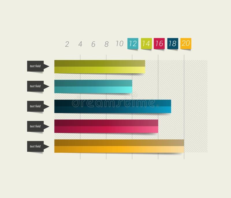 Vlakke grafiek, grafiek stock illustratie