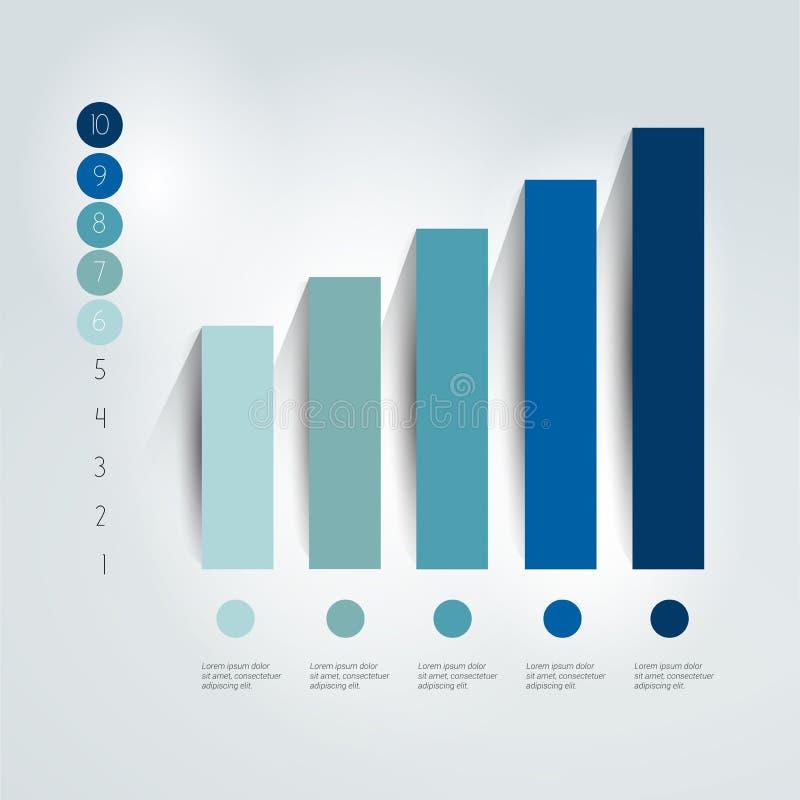 Vlakke grafiek, grafiek Eenvoudig editable vector illustratie