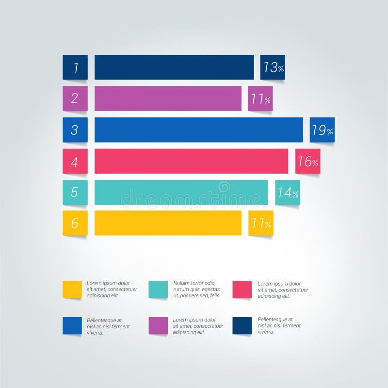 Vlakke grafiek, grafiek Eenvoudig editable kleur stock illustratie
