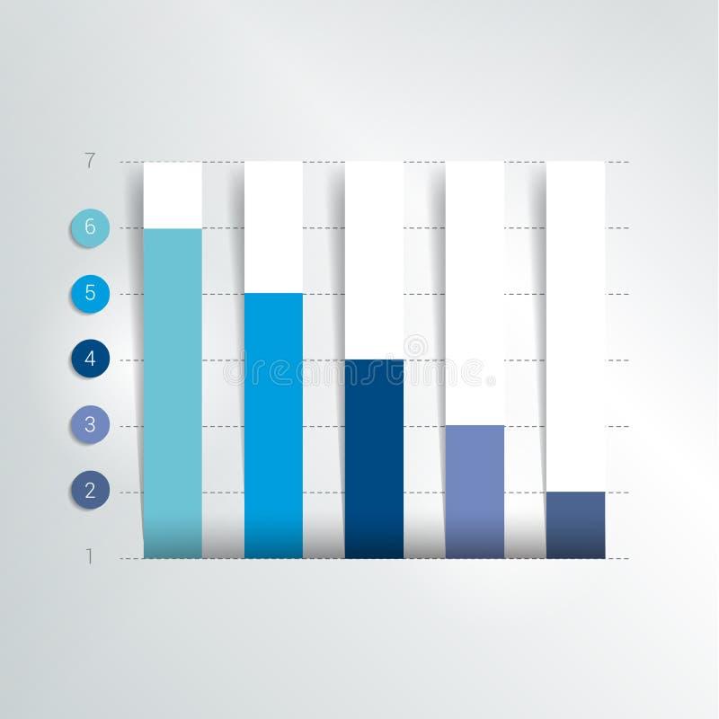 Vlakke grafiek, grafiek Eenvoudig editable kleur royalty-vrije illustratie