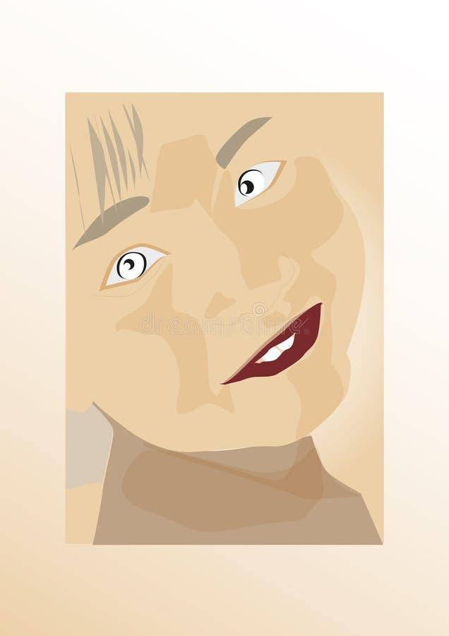 Vlakke het gezichtsjongen van de ontwerpillustratie vector illustratie
