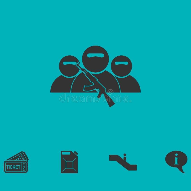 Vlakke het pictogram van de bandietengroep stock illustratie