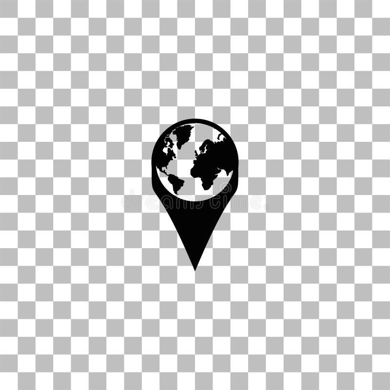 Vlakke het pictogram van de bolspeld vector illustratie