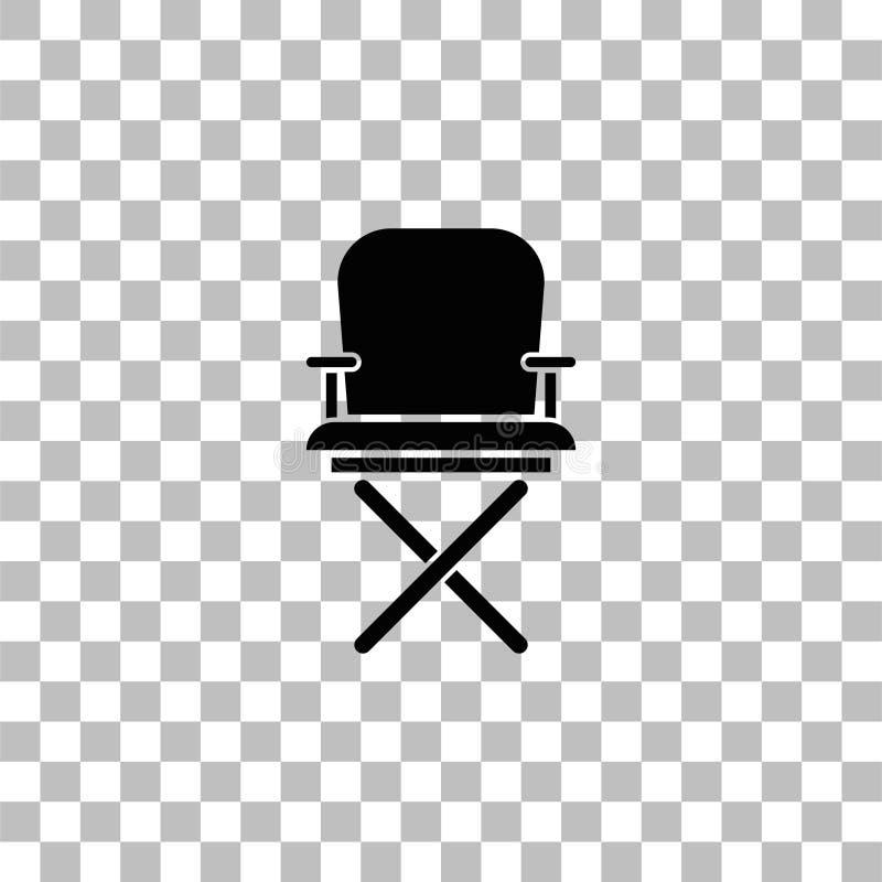Vlakke het pictogram van de directeursstoel royalty-vrije illustratie