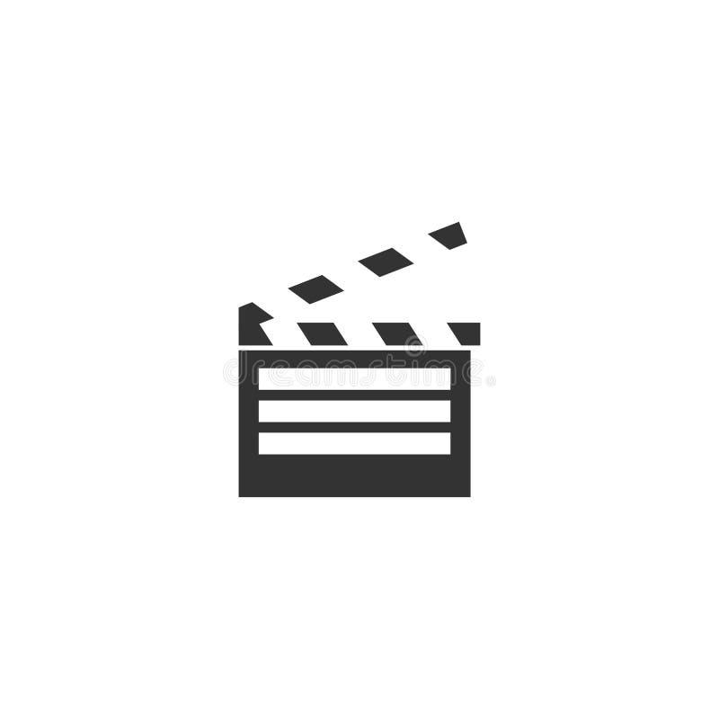 Vlakke het pictogram van de filmklep vector illustratie