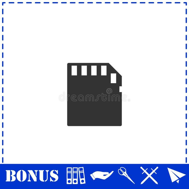 Vlakke het pictogram van de geheugenkaart stock illustratie