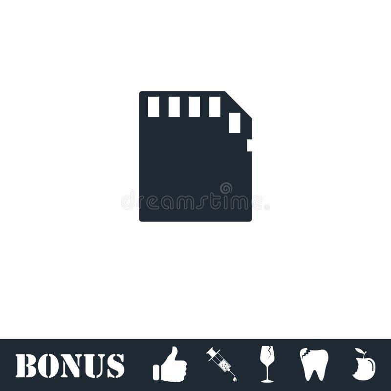 Vlakke het pictogram van de geheugenkaart royalty-vrije illustratie
