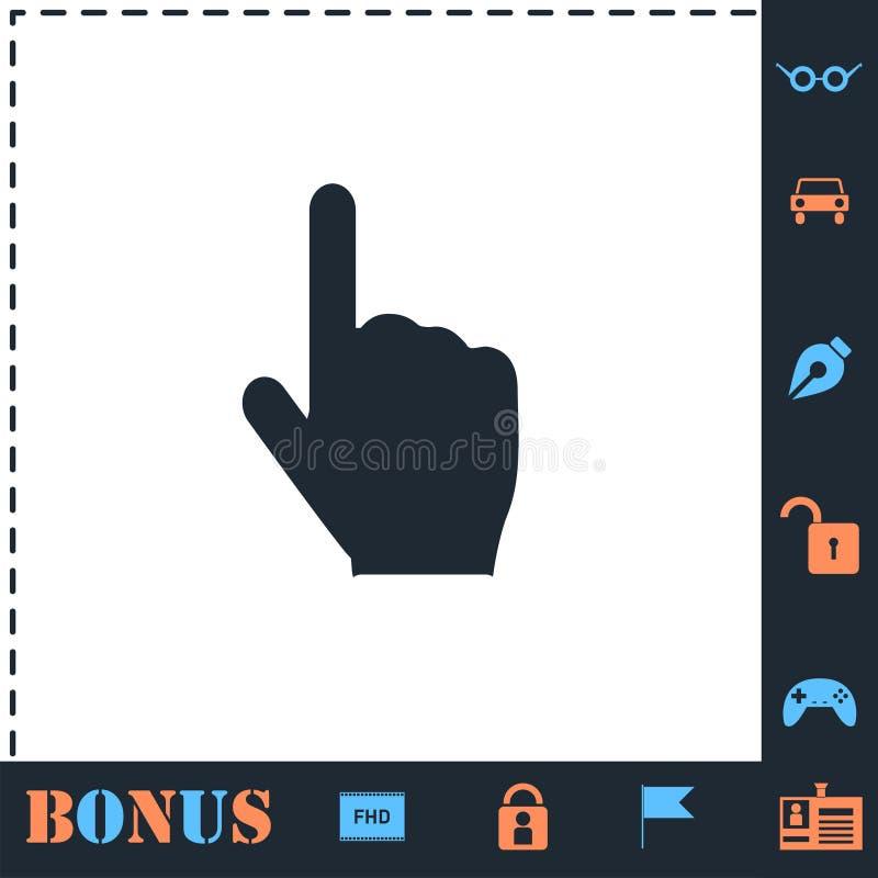 Vlakke het pictogram van de handcurseur vector illustratie