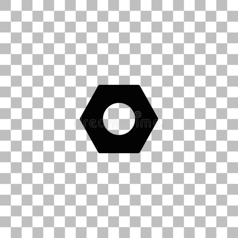 Vlakke het pictogram van de hexuitdraainoot vector illustratie