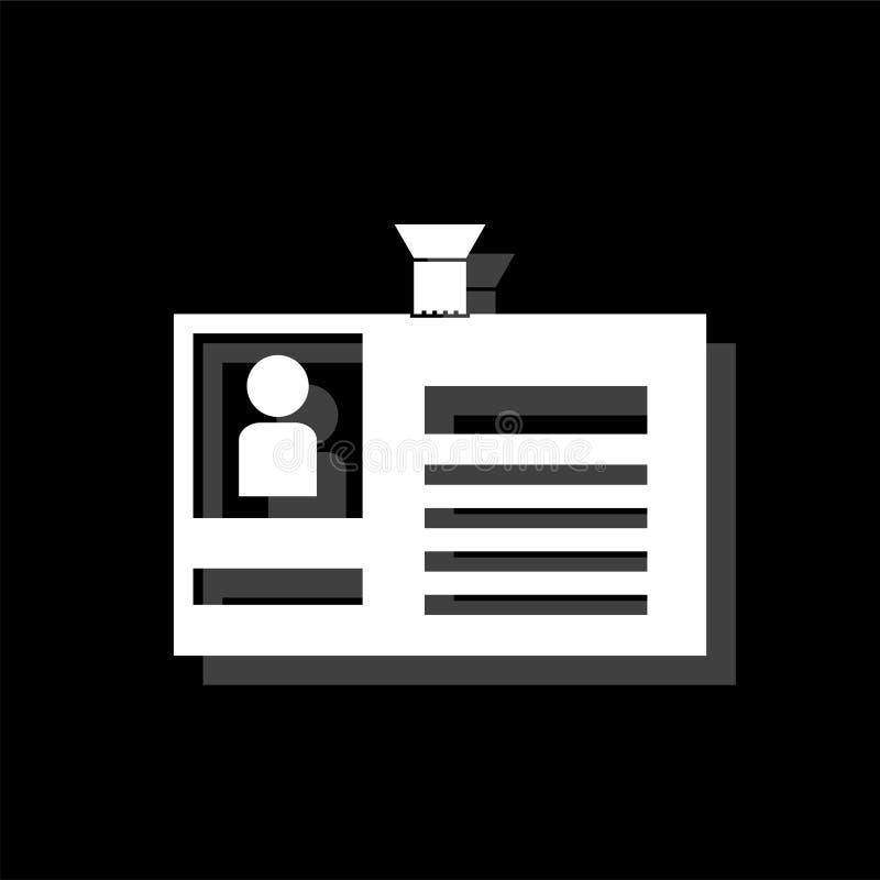 Vlakke het pictogram van de identificatiekaart stock illustratie
