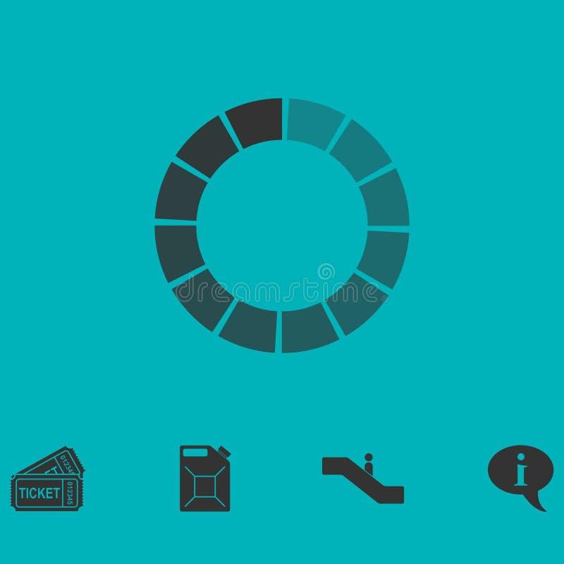 Vlakke het pictogram van de ladingsbar stock illustratie