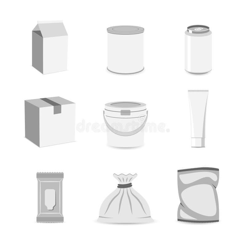 Vlakke het pictogram van de pakcontainer royalty-vrije illustratie
