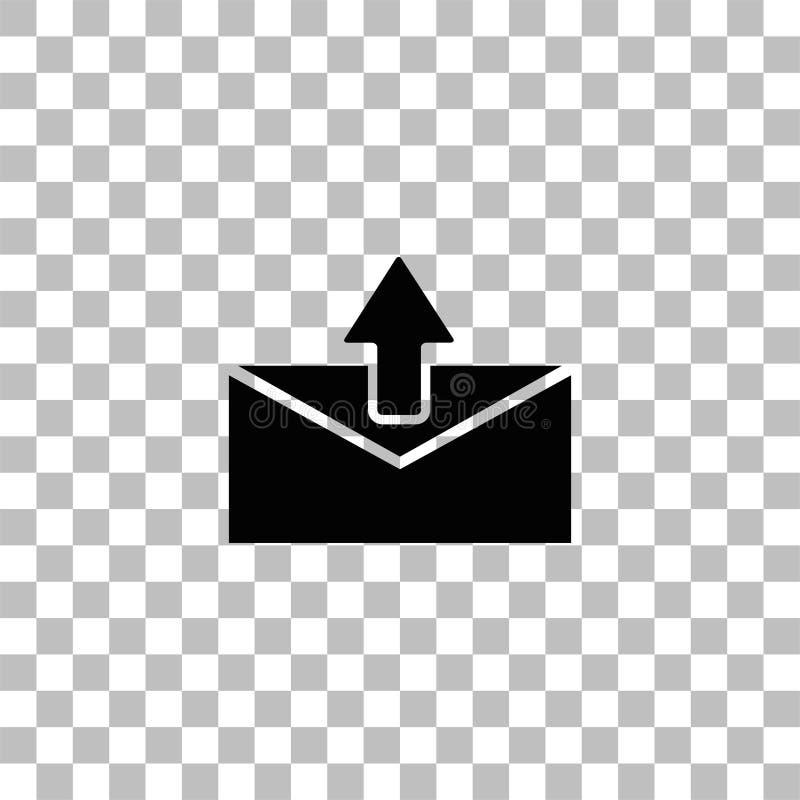 Vlakke het pictogram van de postpijl stock illustratie