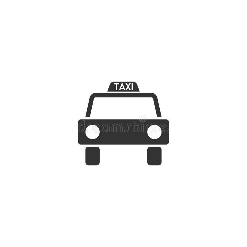 Vlakke het pictogram van de taxiauto royalty-vrije illustratie