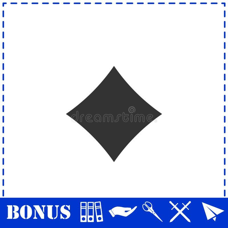 Vlakke het pictogram van kaartenkostuums vector illustratie