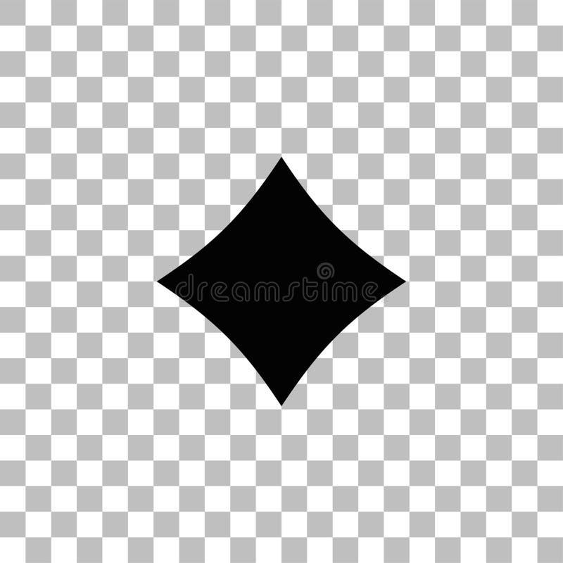 Vlakke het pictogram van kaartenkostuums royalty-vrije illustratie