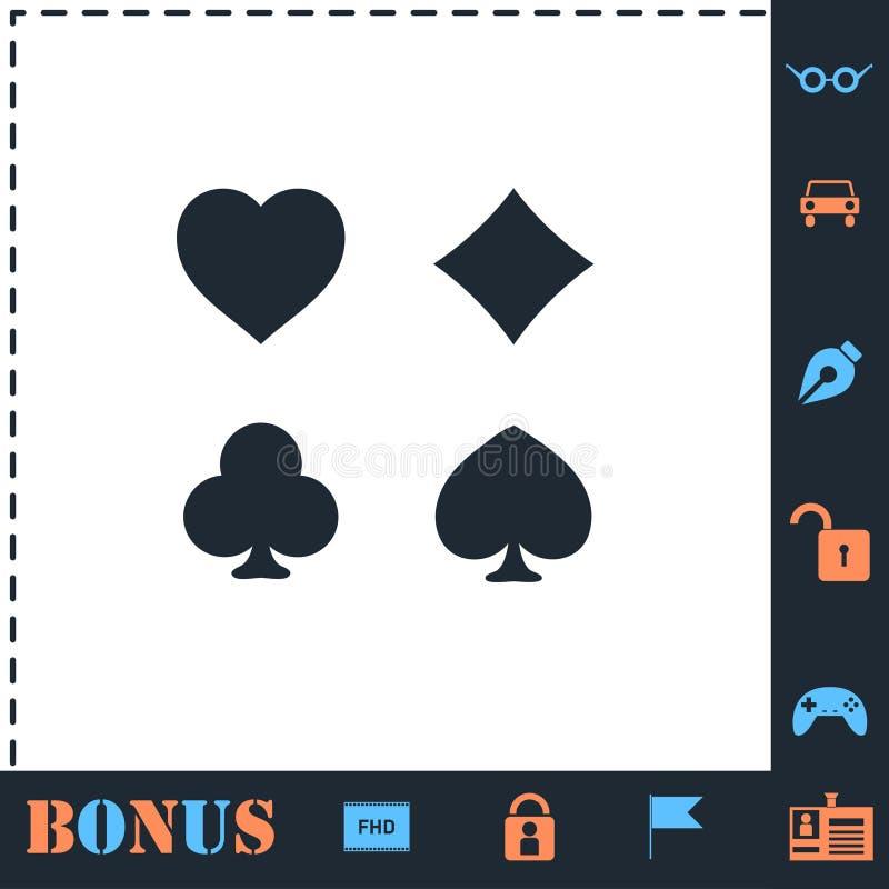 Vlakke het pictogram van het kaartkostuum royalty-vrije illustratie