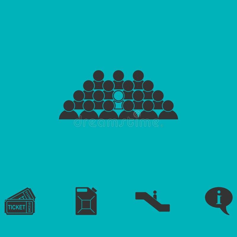 Vlakke het pictogram van het teamlood stock illustratie