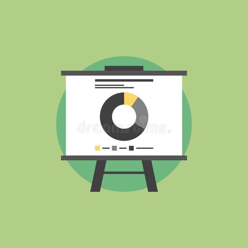 Vlakke het pictogramillustratie van marktstatistieken vector illustratie
