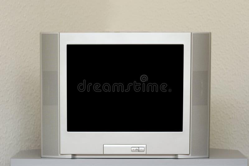 Vlakke het scherm stereoTelevisie stock afbeelding