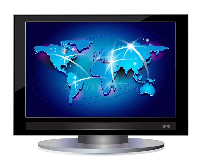 Vlakke het schermTV stock illustratie