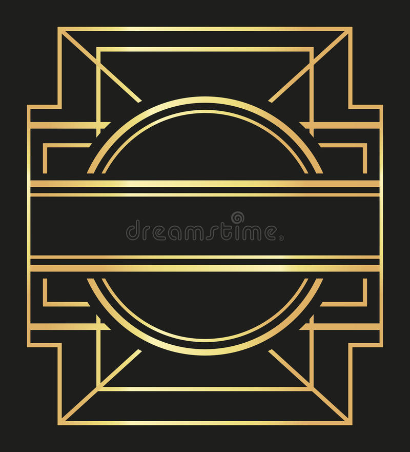Vlakke illustratie over gatsby ontwerp als achtergrond vector illustratie