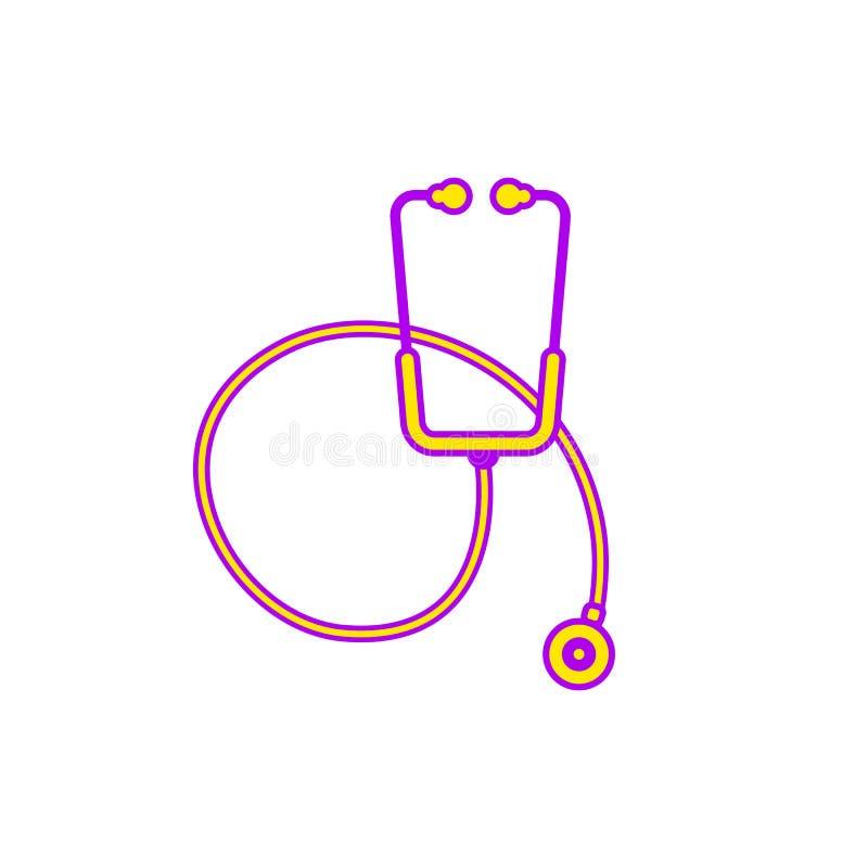 Vlakke illustratie van een stethoscooppictogram vector illustratie