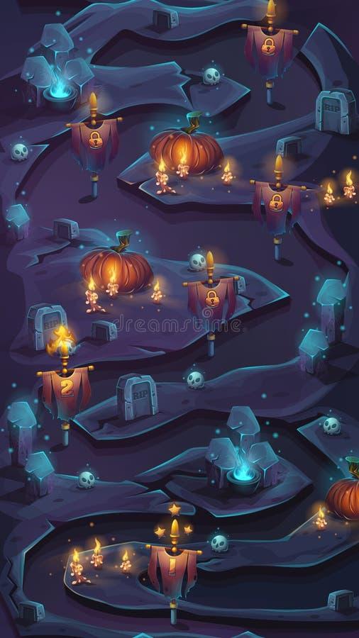 Vlakke kaart met controleposten vectorbeeld als achtergrond stock illustratie