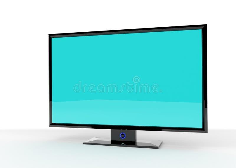 Vlakke Lcd TV stock illustratie