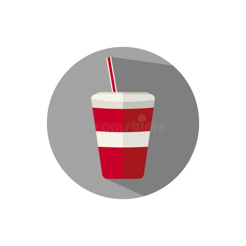 Vlakke ontwerp Rode Drank vector illustratie
