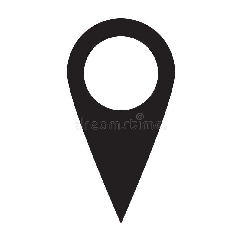 Vlakke ontwerp van het plaats het zwarte Pictogram stock illustratie