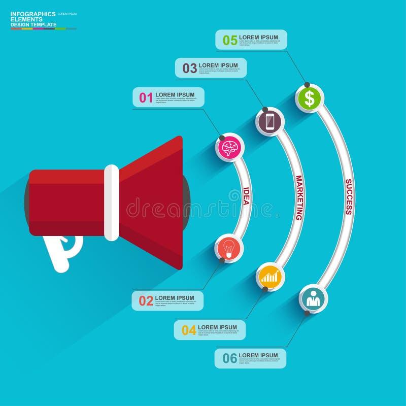 Vlakke ontwerpconcepten voor bedrijfsstrategie en creatief proces stock illustratie