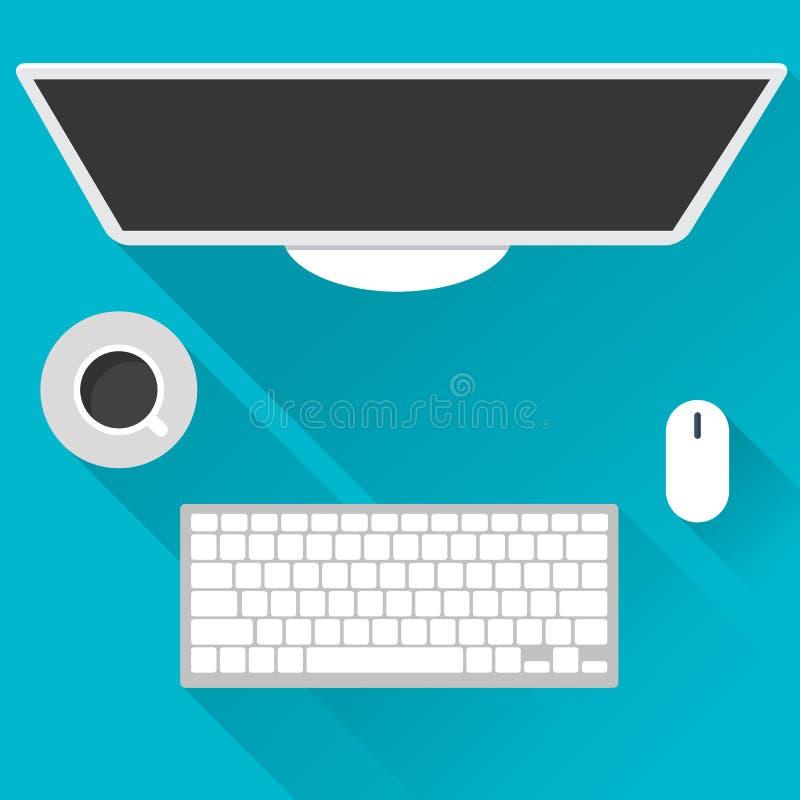 Vlakke ontwerpconcepten voor zaken, wereldmarkt, marktberekening, het bureauwerk, Concepten en pictogrammen voor Webbanners, vect royalty-vrije illustratie