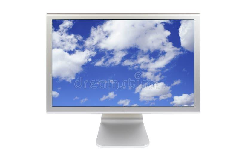Vlakke paneellcd computermonitor stock afbeelding