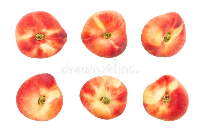 Vlakke perzik stock afbeeldingen