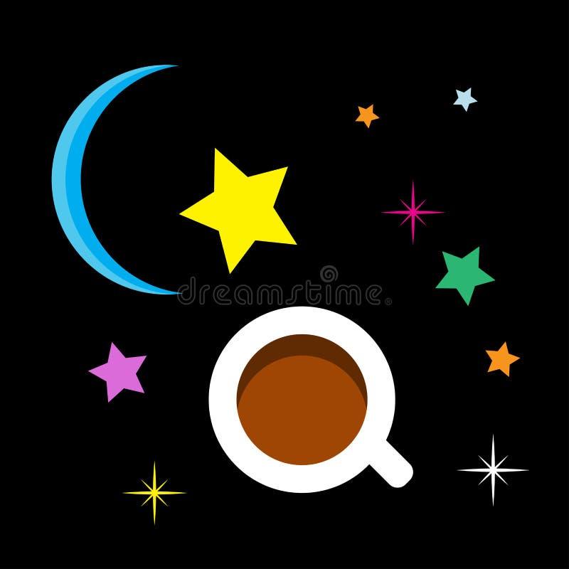 Vlakke pictogrammen van koffiekop vector illustratie