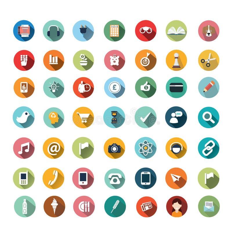 Vlakke pictogramontwerpen, geplaatste pictogrammen, app, voedsel, beeldverhaal vector illustratie