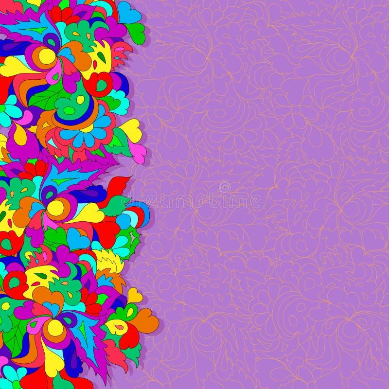 Vlakke stijl vectorillustratie met bloemen royalty-vrije stock foto