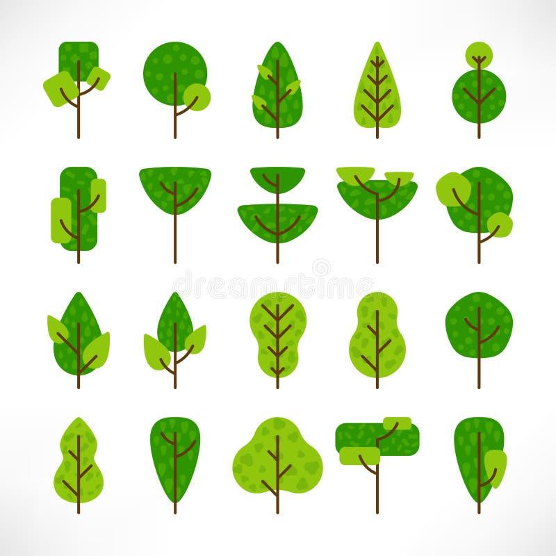 Vlakke textuur van de bomen de grote reeks royalty-vrije illustratie