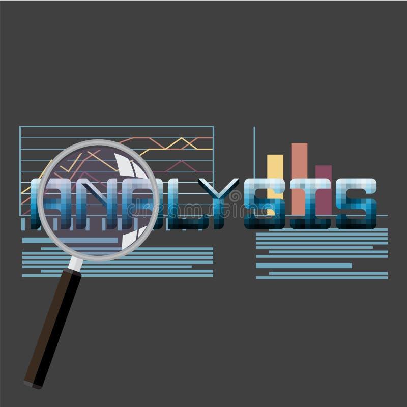 Vlakke vectorillustratie van de informatie van Webanalytics en de statistiek van de ontwikkelingswebsite stock illustratie