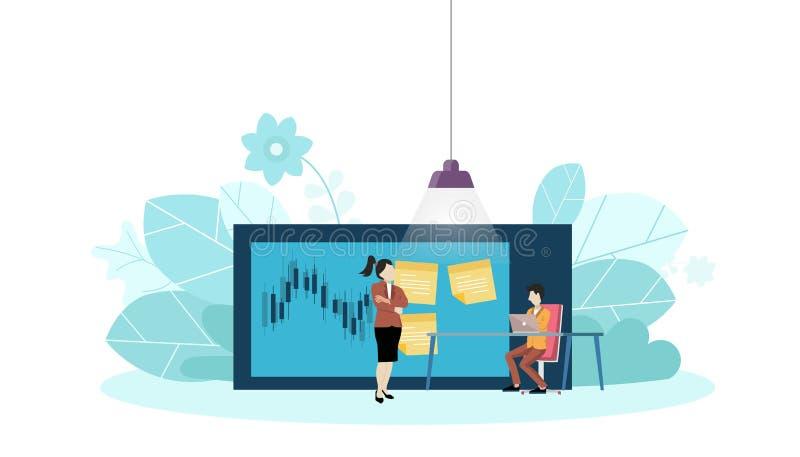 Vlakke vectorontwerpsjabloon van taakbeheer, programma, organisator, om lijst, berichtraad te doen Creatief vlak ontwerp voor Web royalty-vrije illustratie