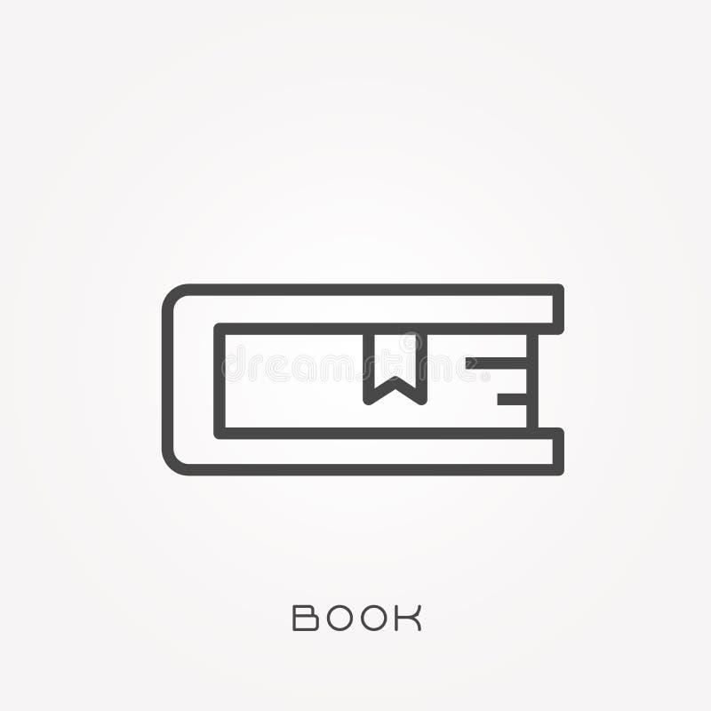 Vlakke vectorpictogrammen met boek vector illustratie