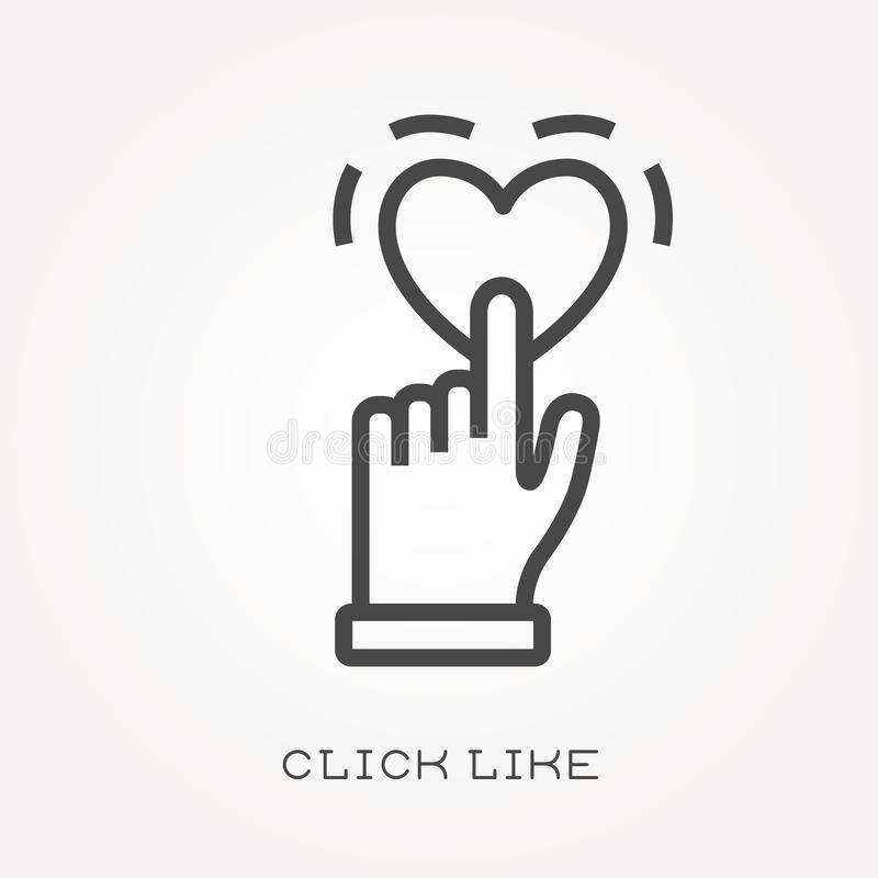 Vlakke vectorpictogrammen met klik als stock illustratie
