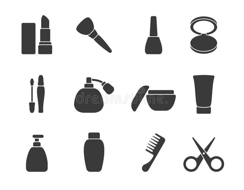 Vlakke vectorsamenstelling & haar bijkomende pictogrammen royalty-vrije illustratie