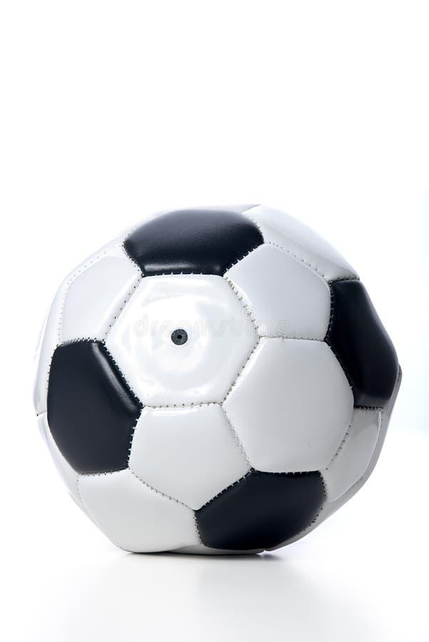 Vlakke voetbal royalty-vrije stock fotografie