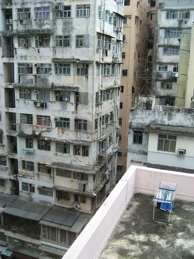 Vlakten in Mongkok, Hongkong stock afbeeldingen