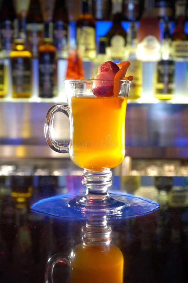 Vlam & cocktail stock afbeeldingen