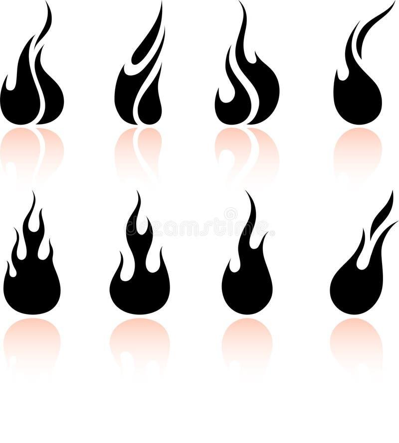 Vlam en brand vector illustratie